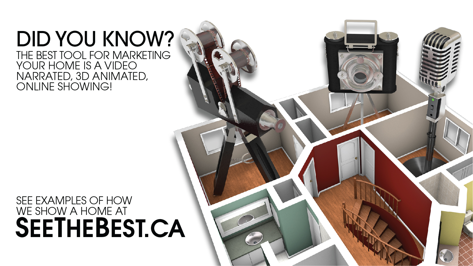 Discover what our Video Narrated, 3D Animated, Online Showing can do for your listing
